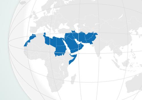 Mapa - Индекс Медикус для Региона Восточного Средиземноморья (IMEMR)