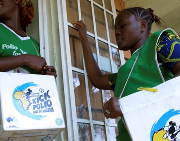 Kicks out wild polio